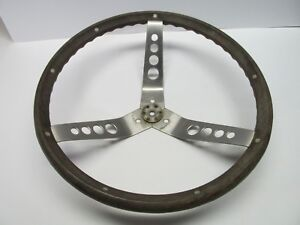 Vintage Woodgrain Steering Wheel Muscle Car Ford Chevy Mopar