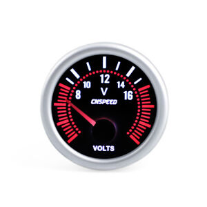 2 52mm Universal Car Led Smoke Lens 8 16v Voltmeter Volt Voltage Gauge Meter