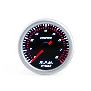 2 Inch 52mm Universal Car Motor Led Tachometer Tacho Gauge Meter Pointer Rpm