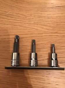Snap On 3 8 Drive Triple Square 6mm 8mm 10mm 3piece Set New
