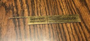 Cherry Rivet Selector Gage Vintage Collectible Tool