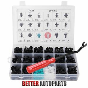 299 Clip Tool Car Body Retainer Push Pin Fastener Trim Panel Moulding Assortment