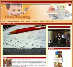 home School Turnkey Website For Sale turnkeypages