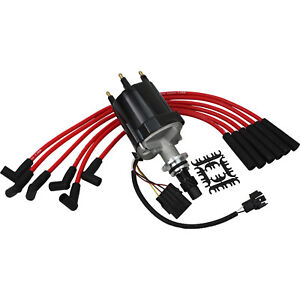 New Distributor And Plug Wire Set For 1982 1991 Buick Chevrolet Pontiac And More