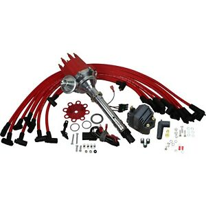 Pro Series Magnetic Trigger Ignition Distributor W Coil Wires For Chevy Sbc Bbc