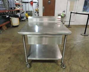 Commercial Stainless Steel Work Table W Drawer Edlund U 12 Can Opener