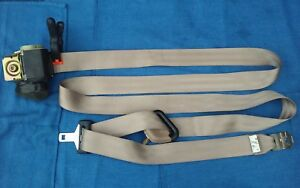 97 00 F150 Rear Driver Extended Cab Ext Seat Belt Male Retractor Tan Lh Ds Brown