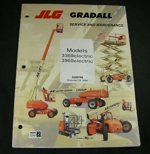 Jlg Gradall 3369 3969 Electric Scissor Man Lift Service Maintenance Manual