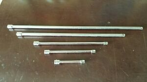 Snap On 3 8 Drive 5pc Extension Set Fx4 Fx8 Fx11 Fx18 Fx24