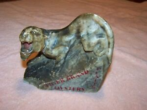 Platts Tiger Brand Oysters Antique Italian Marble Collectible Advertising Piece