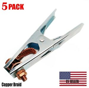 5 Pcs 300a Copper Welding Arc Earth Ground Clamp