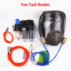 3 In1 Spray Painting Supplied Air Fed Respirator System 6800 Full Face Gas Mask