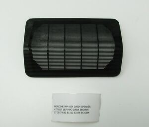 Porsche 944 924 Dash Speaker Grille Dark Brown