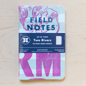 Field Notes Two Rivers Spring 2015 3 Sealed Notebooks Letterpress E