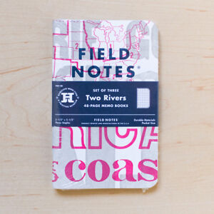 Field Notes Two Rivers Spring 2015 3 Sealed Notebooks Letterpress G