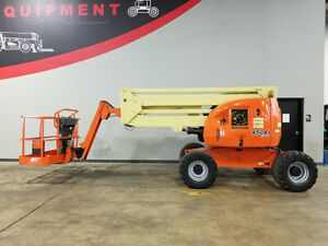 2007 Jlg 450aj Pneumatic 500lb Articulating Boom Lift 4x4 Diesel Man Lift