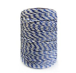 Electric Fence Poly Wire White Blue Polywire Steel Horse Fencing Low Resistance