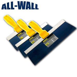 Ames Blue Steel Taping Knife Set 8 10 12 Drywall Plaster Finishing Spatula
