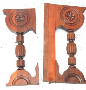 Vintage Wood Corbels Entryway Mantels Mantle Fireplace
