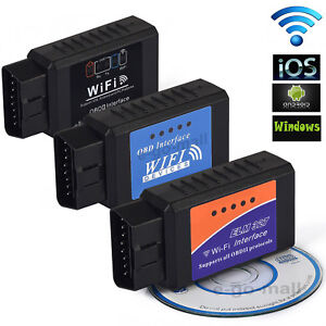 Wireless Elm327 Obd2 Obdii Car Diagnostic Scan Tool Scanner For Iphone Android