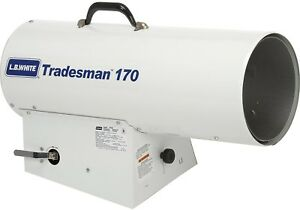 L b White Portable Gas Heater Tradesman 170n Canadian 170k Btu Natural Gas