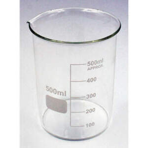 Lab Safety Supply 5ygz4 Beaker low Form 500ml non sterile pk6