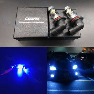2x 9006 Hb4 10000k Deep Blue Cree Led 100w High Power Fog Lights Driving Bulbs