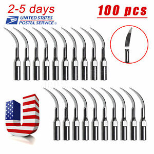 100 Us Dental Ultrasonic Scaler Scaling Tips Gd1 Fit Satelec Dte Handpiece Ys 2