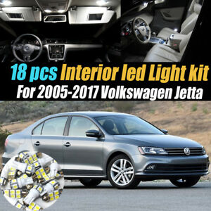 18pc Super White Interior Led Light Bulb Kit Package For 2005 2017 Vw Jetta