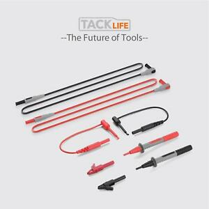 Multi meter Test Leads Alligator Clips Mini Hooks Probe Plunger Clamp Meters Ext