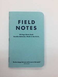 Field Notes Flagged By Ellen Blue Edition Notebook With Mahatma Ghandi Quote
