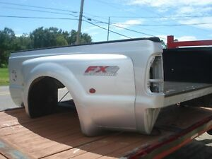 99 07 Ford F 350 Super Duty Dually Drw Truck Bed Box 8 Foot Long Silver Oem