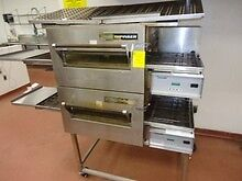 Used Lincoln Impinger 1132 Conveyor Pizza Oven Double Stack Electric 18 Nice