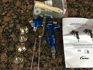 Nordson Trilogy Paint Spray Gun Siphon pressure Binks Devilbiss Anest Sata