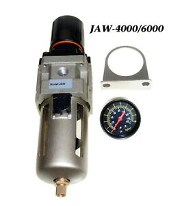 New 3 4 Compressed Air Filter W water Trap Pressure Regulator