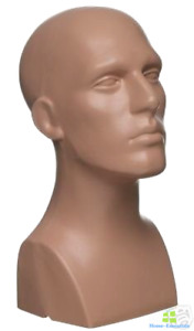 Mannequin Head Stand Male Plastic No Hair Man For Wigs Bust Hat Jewelry Display
