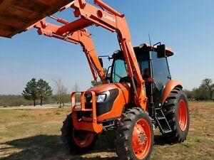 2014 Kubota M7060 Tractor With Cab And Loader 4x4 70hp