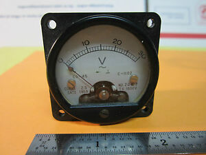 Voltmeter Gauge Dial From 1959 Vintage Voltage Meter Bin 24