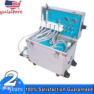 New Dental Portable Delivery Unit W Ultrasonic Scaler curing Light syring tube
