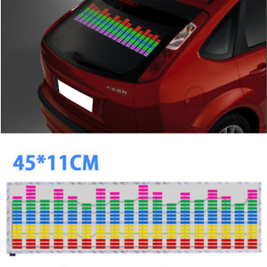 Car Music Rhythm Flash Light Sound Activated Equalizer Lamp Rear Glass Stickers