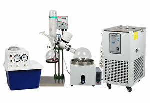 5 Liter Rotary Evaporator Complete With Vacuum Pump Chiller 1 Year Warranty