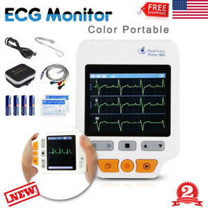 Heal Force 180d Handheld Color Ecg Ekg Portable Heart Monitor 50x Electrode Lead