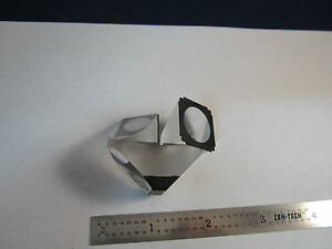 Optical Microscope Prism Assembly From Olympus Stereo Scope Optics Bin 19 I