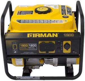 Portable Gas Powered Generator Firman Ohv Engine Quiet Muffler Recoil 1200 watt