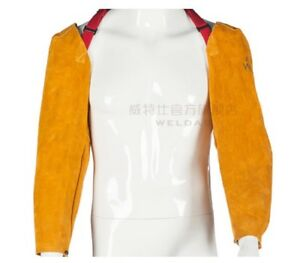Weldas Fire Resistant 22 Golden Split Cowhide Full Leather Welding Sleeves