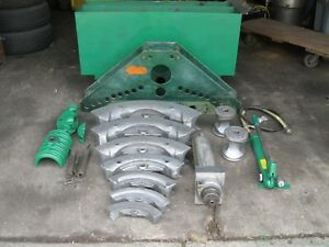 Greenlee 885 Hydraulic Pipe Bender 1 1 4 5 Greenlee 755 Hand Pump