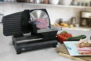 Electric Meat Slicer Cutter Kitchen Food Vegetable Cheese Slicing Machine