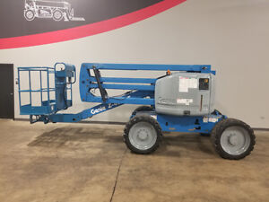 2012 Genie Z45 25 500lb Pneumatic Articulating Boom Lift 4x4 Diesel Man Lift