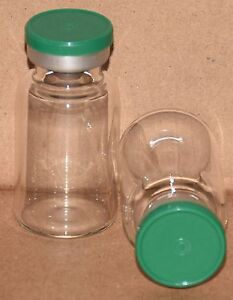 10 Ml Bb Clear Sterile Vial With Green Plain Flip Top Seal Qty 50