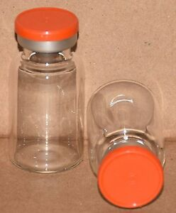 10 Ml Bb Clear Sterile Vial With Orange Plain Flip Top Seal Qty 50